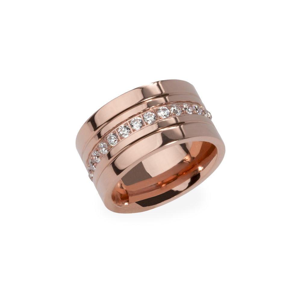 Large ring for women with stones