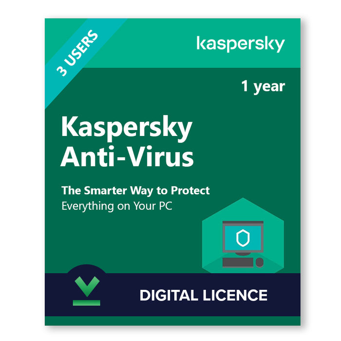 Kaspersky Anti-Virus 3 Devices | 1 Year - Digital Licence