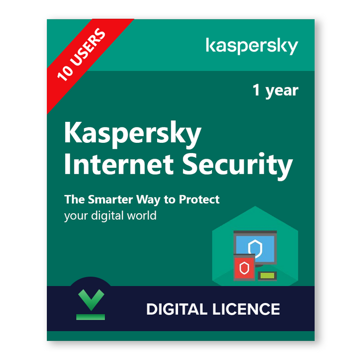 Kaspersky Internet Security 10 Users, 1 Year - download digital licence