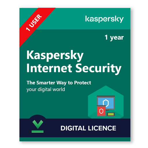 Kaspersky Internet Security 1 User, 1 Year - download digital licence