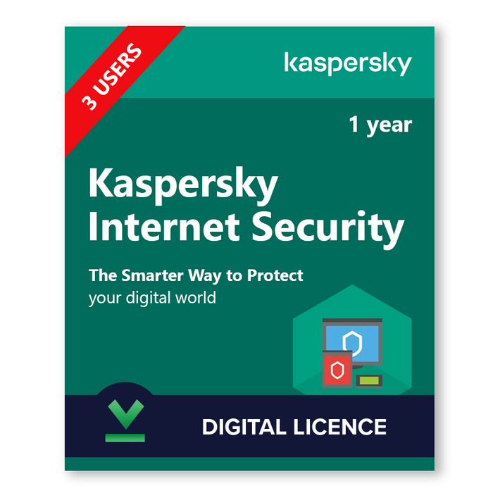 Kaspersky Internet Security 3 Users, 1 Year - download digital licence