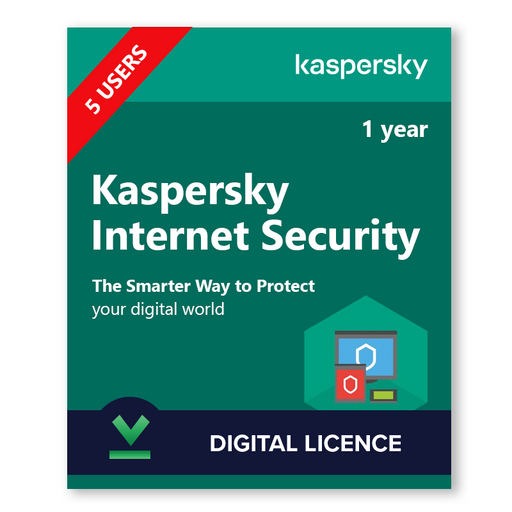 Kaspersky Internet Security 5 Users, 1 Year - download digital licence