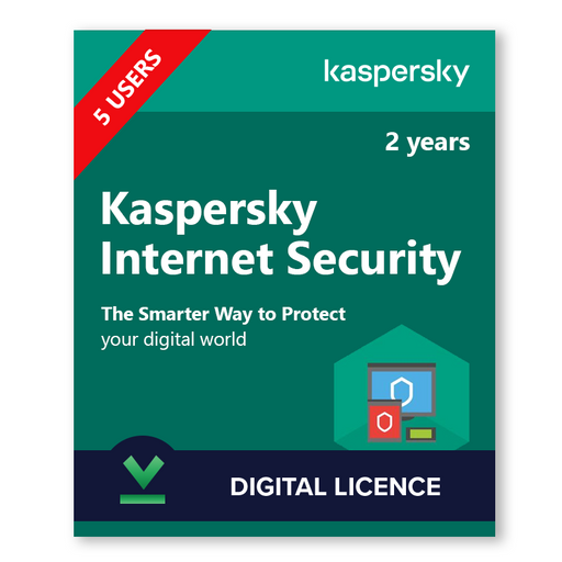Kaspersky Internet Security 5 Users, 2 Years - download digital licence