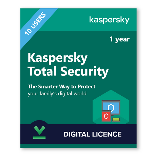Kaspersky Total Security 10 Users, 1 Year - download digital licence