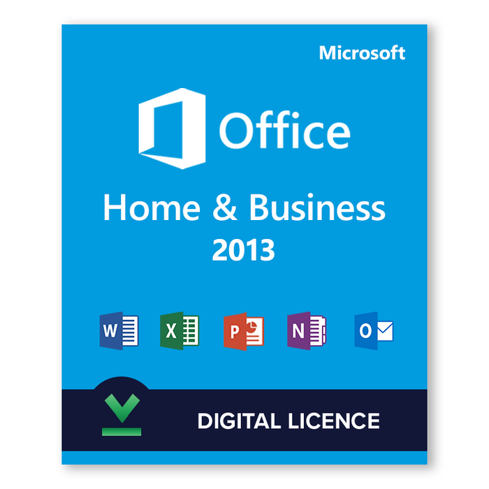 Microsoft Office Home and Business 2013 - download digital licence