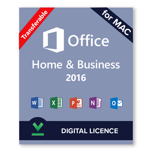 Microsoft Office 2016 Home and Business for Mac Transferable Digital Licence
