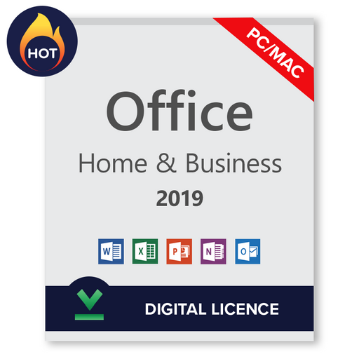 Microsoft Office 2019 Home and Business PC/Mac Transferable Digital Licence