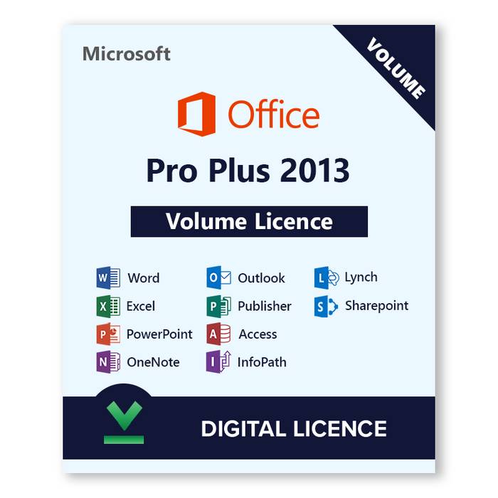 Microsoft Office Volume Licence Pro Plus 2013 - download digital licence