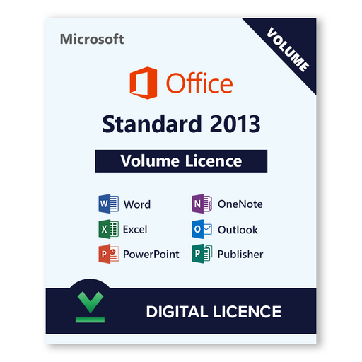 Microsoft Volume Licence Office 2013 Standard - download digital licence