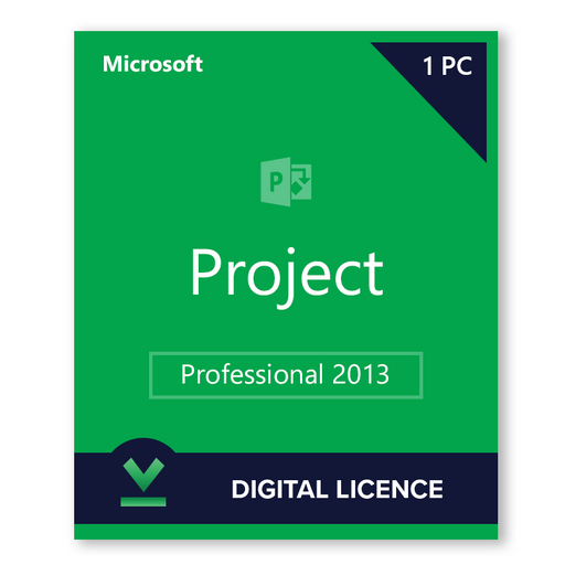 Microsoft Project Professional 2013 - download digital licence