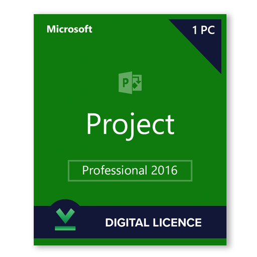 Microsoft Project Professional 2016 - download digital licence