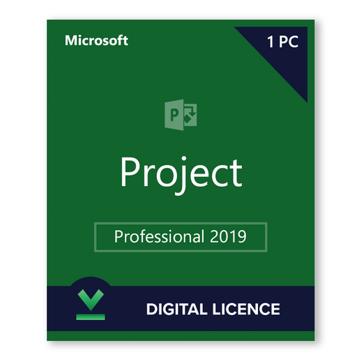 Microsoft Project Professional 2019 Digital Licence