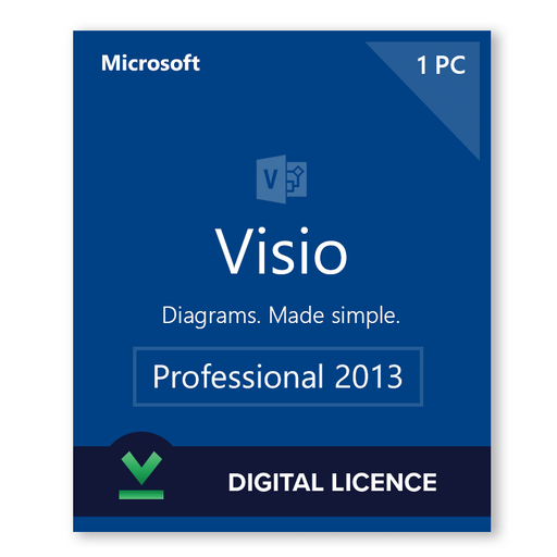 Microsoft Visio Professional 2013 - download digital licence