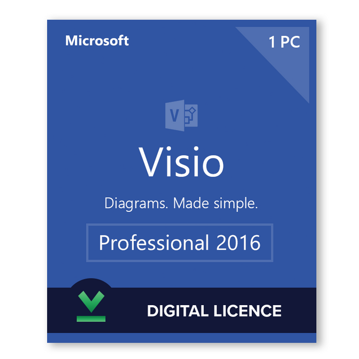Microsoft Visio Professional 2016 - download digital licence