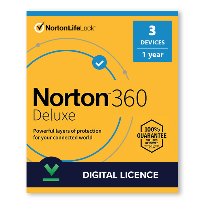 Norton 360 Deluxe 2020 3 Devices 1 Year, Digital Licence