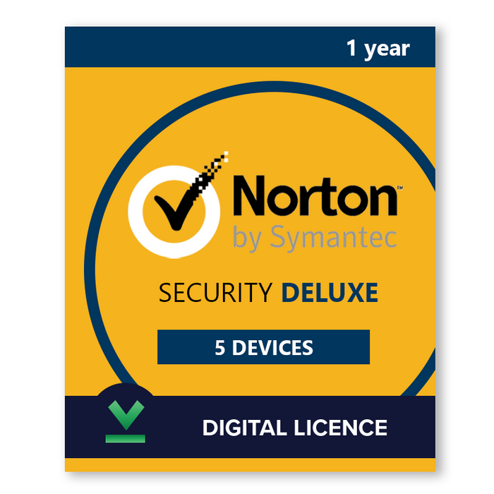 Norton Security Deluxe 5 Devices | 1 Year - Digital Licence