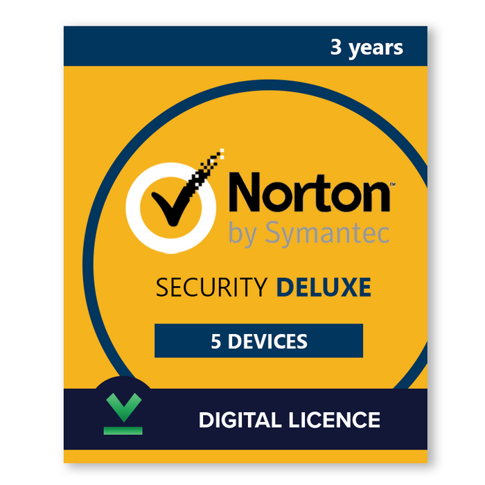 Buy Norton Security Deluxe 5 Devices 3 Years - Digital Licence