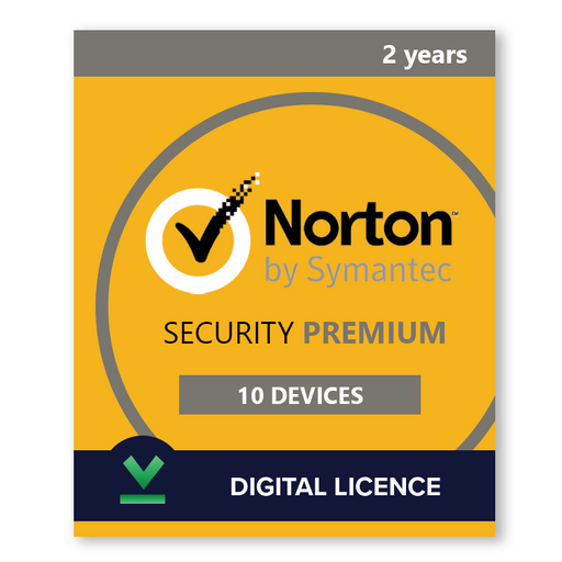Norton Security Premium 10 Devices | 2 Years - Digital Licence