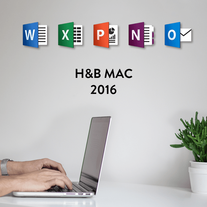 Microsoft Office 2016 Home and Business for Mac Digital Licence