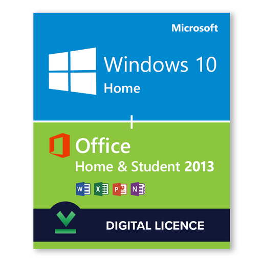Windows 10 Home + Microsoft Office Home & Student 2013 - download digital licence