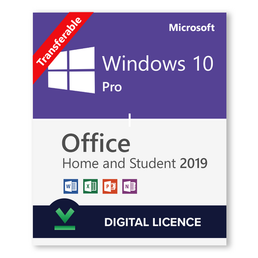 Buy Windows 10 Pro + Microsoft Office 2019 Home and Student Bundle - Digital Licences