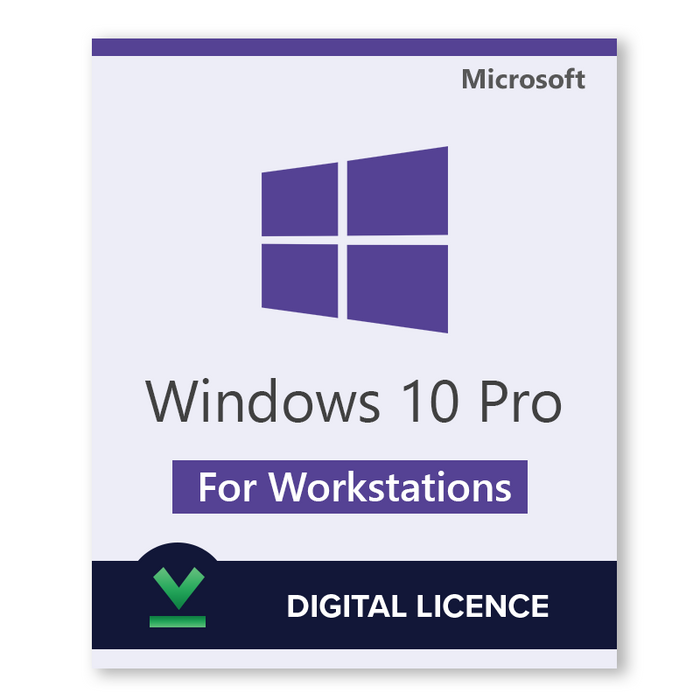 Windows 10 Pro for Workstations Retail - Digital Licence