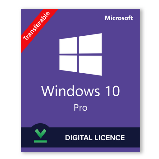 Windows 10 Pro 32bit and 64bit Transferable - download digital licence