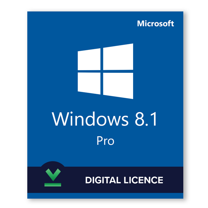 Windows 8.1 Pro 32bit and 64bit - download digital licence