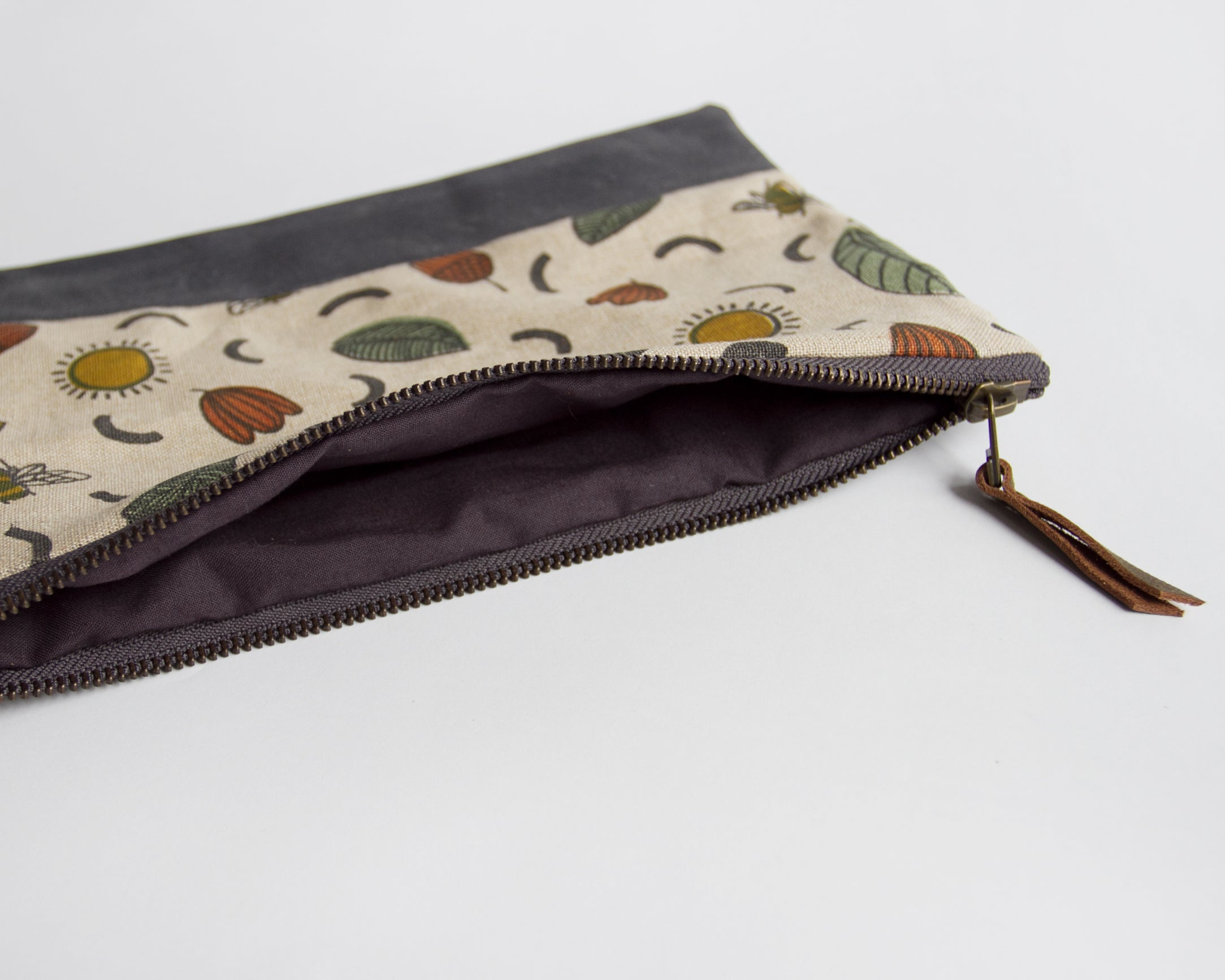 Double-Zipper Pouch - Sunny Day - large