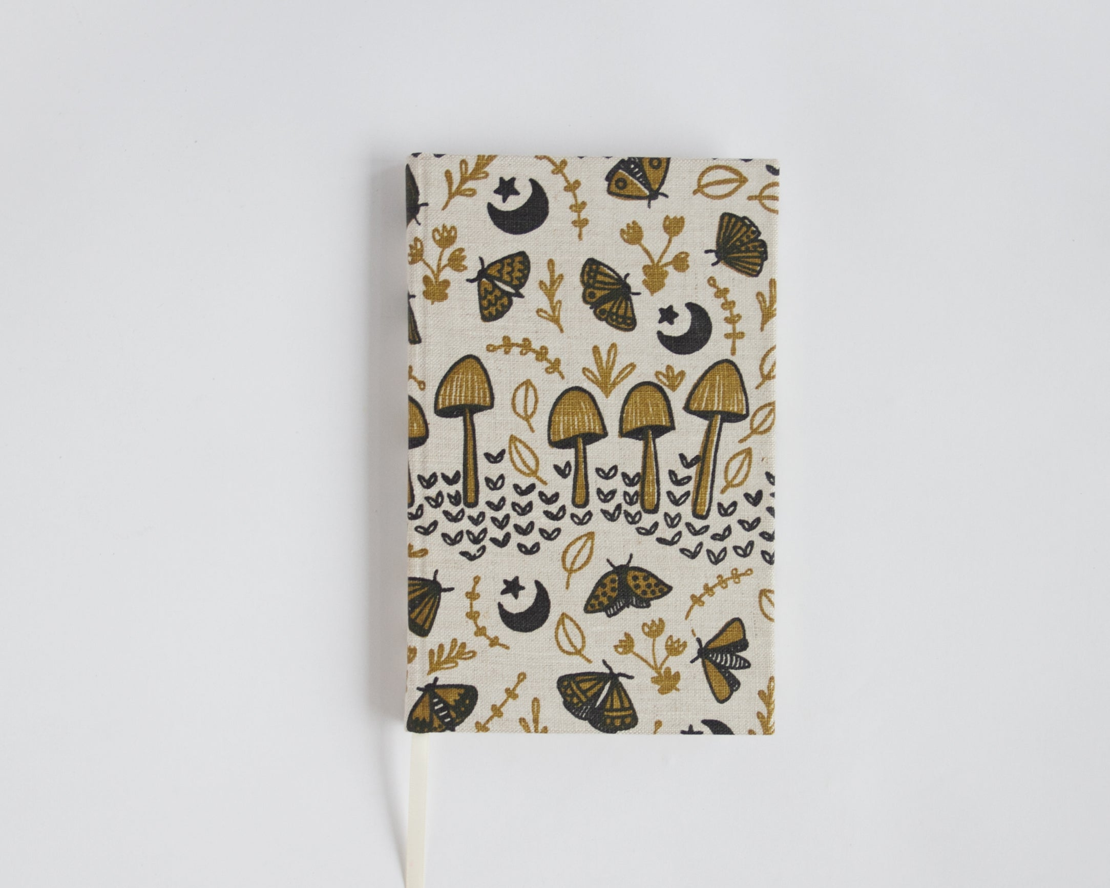 Journal with lined pages - Mushrooms & Moths - Mustard
