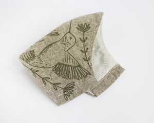 Hummingbird Mask - Olive