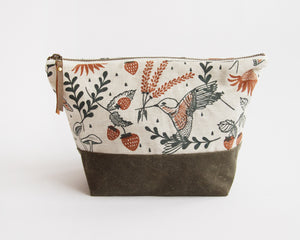 Traveler Pouch - Hummingbirds