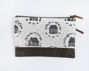 Double-Zipper Pouch - Home - large