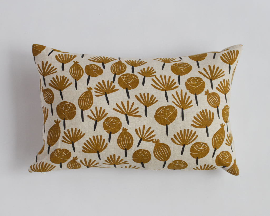 "Linen Pillow Cover - 12"" x 18"" - Petals"