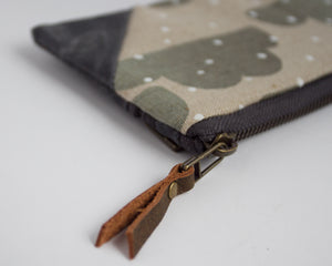 Small Double-Zipper Pouch - Snow
