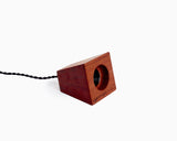 Blok Pendant Bubinga with Black Cord