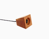 Blok Pendant Cedar with Black Cord