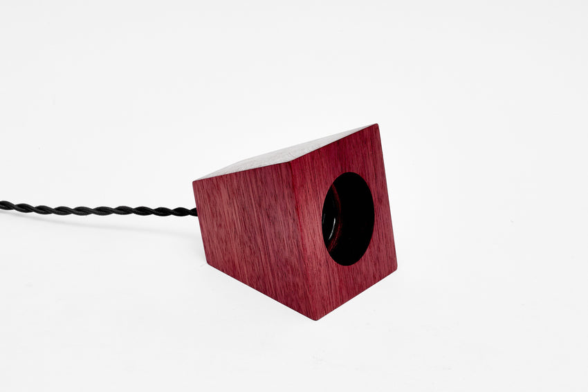 Blok Pendant Purpleheart with Black Cord