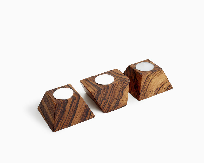 Wooden Tea Candle Holder