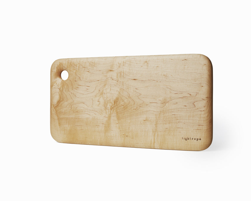 Maple Serving Board Large Curved Edge