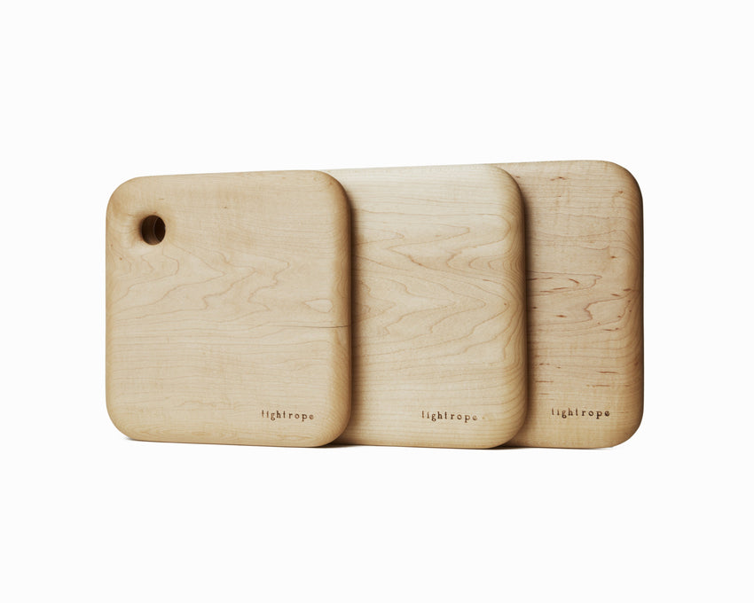 Maple Serving Board Set Curved Edge