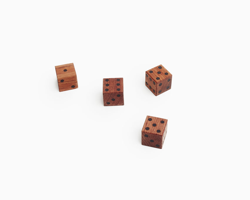Wooden Dice Bubinga