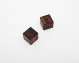 Wooden Dice Walnut