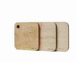 Maple Serving Board Set Flat Edge