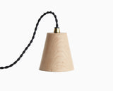 Kone Pendant Maple With Black Cord