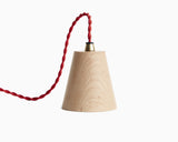 Kone Pendant Maple with Red Cord