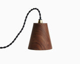 Kone Pendant Walnut with Black Cord