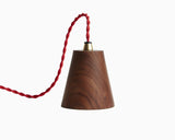 Kone Pendant Walnut with Red Cord