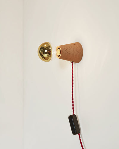 Scape Sconce Maple with Red Cord