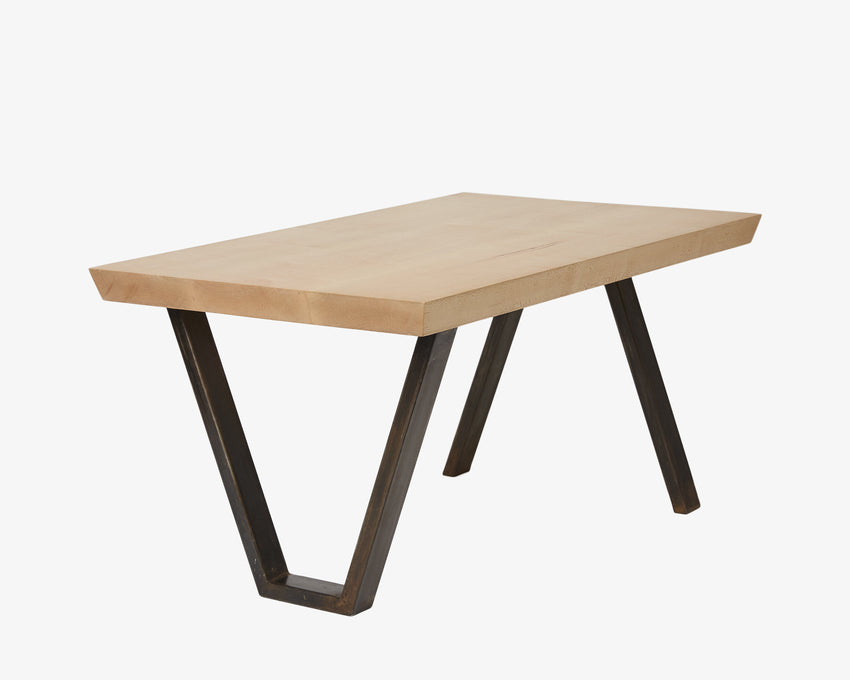 Maple V-Leg Coffee Table